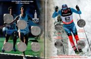Альбом «От Москвы до Сочи» с монетами 1р СССР Олимпиада 1980 и 25р Олимпиада в Сочи 2014