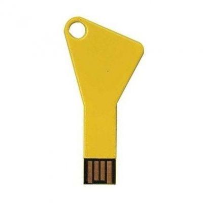 4GB USB-флэш накопитель Apexto UK-004 металлический ключ, золотой