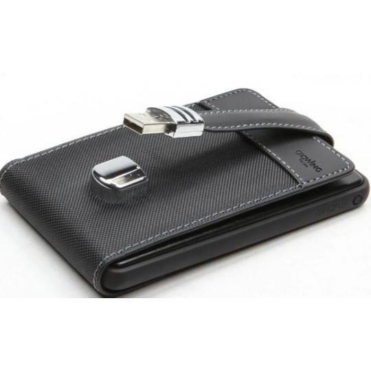 1TB внешний HD USB 2.0 кожаный кейс U005P, SATA 2,5'' Черный