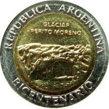 Аргентина 1 песо 2010 г. - ледник Перито-Морено