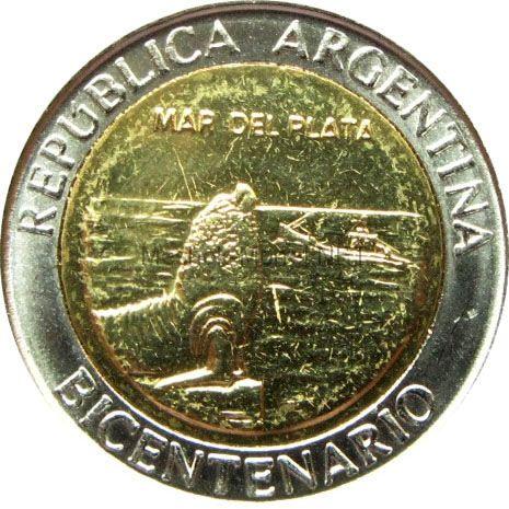 Аргентина 1 песо 2010 г. - Мар-дель-Плата