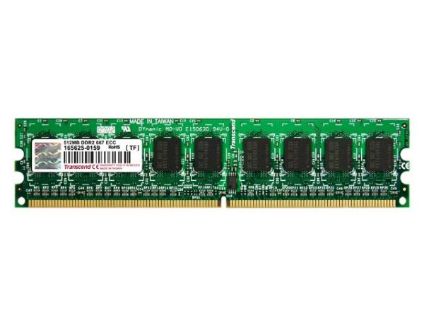 512MB модуль памяти DDR2 667MHz ECC Transcend 64Mx8/CL5 (TF)