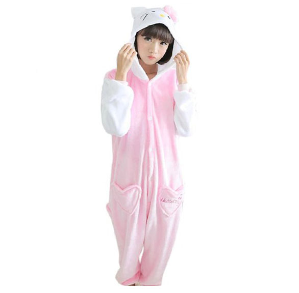 Пижама Кигуруми Кошка Розовая_01