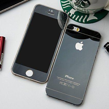 Защитное стекло на iphone 5/5s/5se (черный)