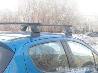 Багажник на крышу Peugeot 207, Lux, прямоугольные стальные дуги