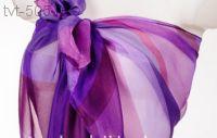Парео для пляжа Радуга (фиолетовый-сирень) размер 150/100