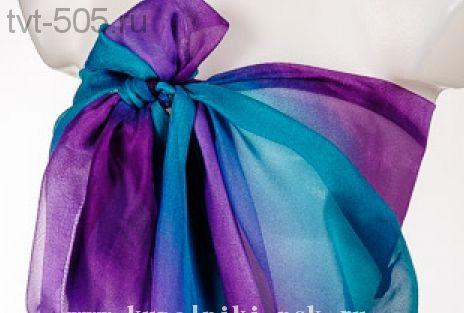 Парео для пляжа Радуга (фиолетовый-изумруд) размер 150/100
