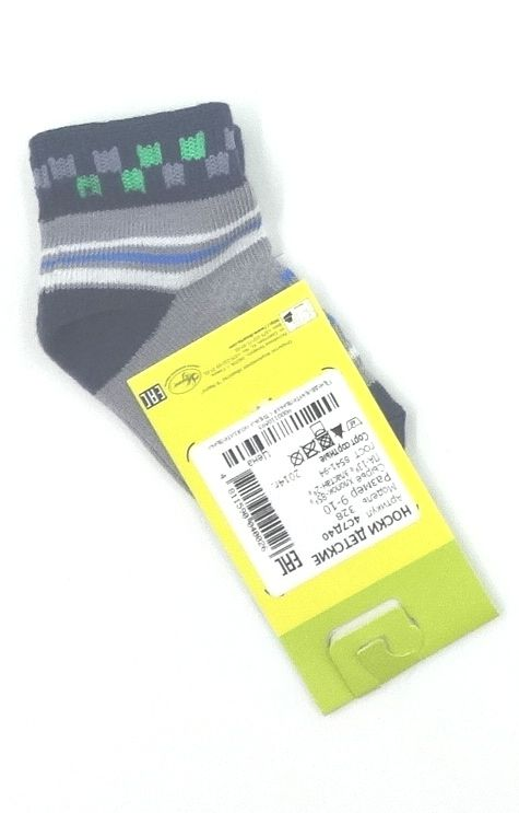 Серые носки с квадратами