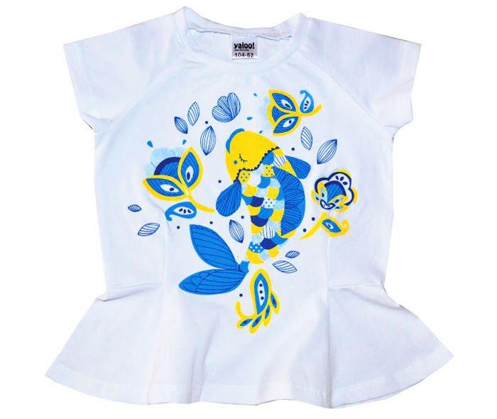 Белая футболка Рыбка
