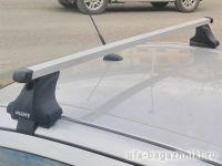 Багажник на крышу Ford Fiesta VI, Атлант, прямоугольные дуги, опора Е