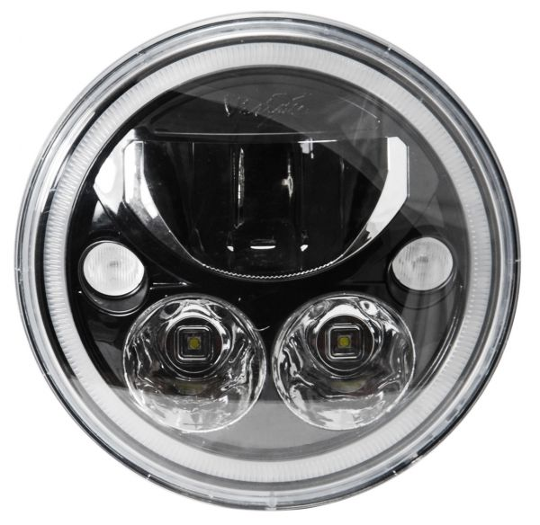 Светодиодная фара головного света Prolight Vortex XIL-7RDB черный хром