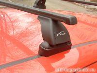 Багажник на крышу Opel Corsa D 2006-..., Lux, прямоугольные стальные дуги