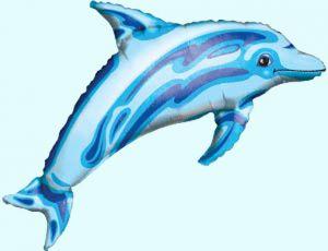 """Шар фигурный """"Дельфин синий"""""""