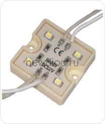 Светодиодный модуль SMD 3528/4LED  35*35*5 мм  IP65 yellow