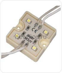 Светодиодный модуль SMD 3528/4LED  35*35*5 мм  IP65 warm white