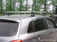 Багажник на крышу Mitsubishi ASX, без рейлингов, со штатными местами, Атлант, прямоугольные дуги