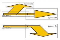 пример компоновки трафаретов дорожной разметки