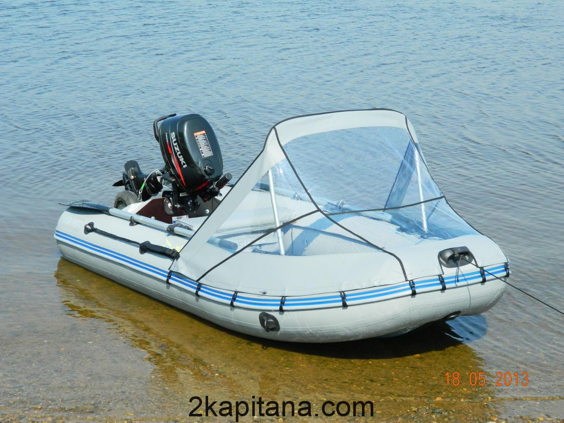 Тент носовой Прозрачный для лодок 365-400