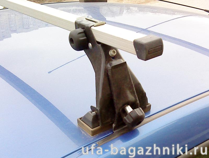 Багажник на крышу на Renault Logan (Атлант), с опорами, алюминиевые дуги