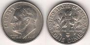 10¢ центов США (1 Дайм) 2013 из роллов