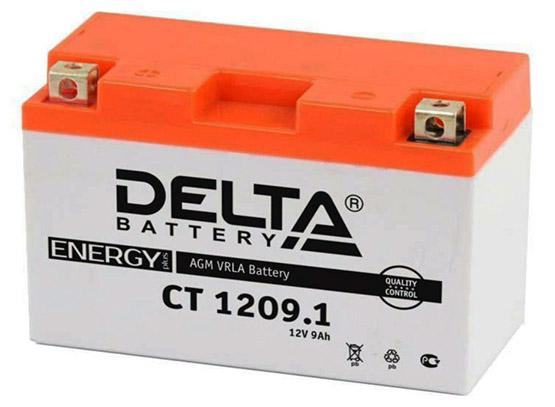 Мото аккумулятор АКБ Delta (Дельта) CT 1209.1 9Ач п.п YT9B-BS