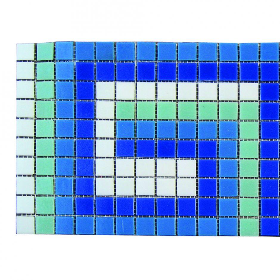 Фриз ЗигЗаг из стеклянной мозаики Aquaviva U-41