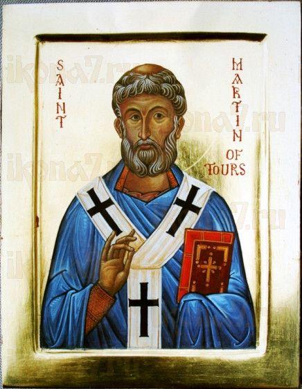 Икона Мартин Турский (рукописная)