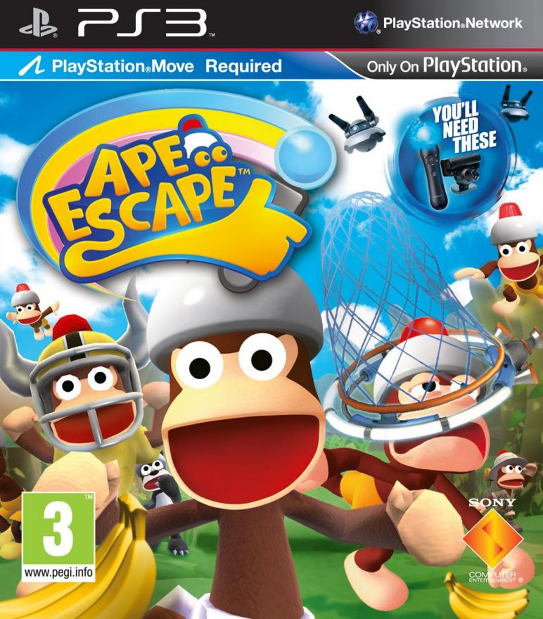 Игра Ape Escape (PS3, русская версия)