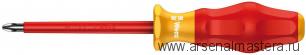 Изолированная отвертка для винтов Kraftform Comfort WERA 1165 i PZ VDE, PZ 1 / 80 мм, 031611