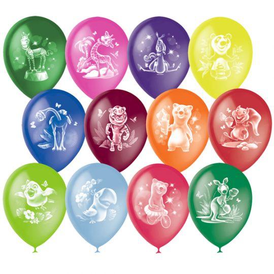 Веселый Зоопарк латексные шары с гелием