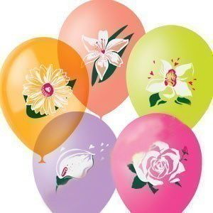 Цветущий Сад латексные шары с гелием
