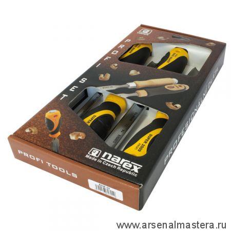 Набор столярных полукруглых стамесок Narex SUPER 2009 LINE PROFI 4 шт (8,10,16,26 мм) в коробке 860602