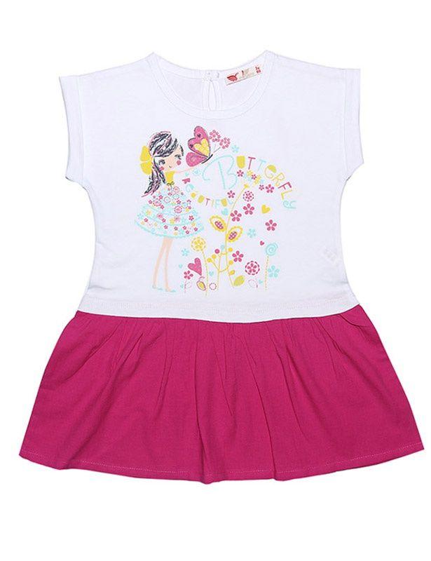 Белое платье Девочка с бабочкой