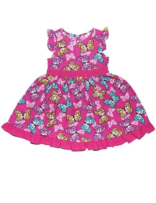 Розовое платье для девочки Милые бабочки