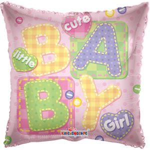 Подушка Baby шар фольгированный с гелием