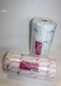 Полотенца одноразовые 35/70 - плотность 40; - 100 штук. розовый/голубой