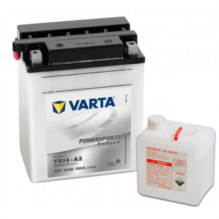 Мото аккумулятор АКБ VARTA (ВАРТА) FP 514 012 014 A514 YB14-A2 14Ач п.п.