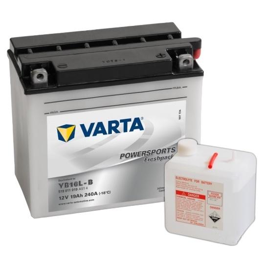 Мото аккумулятор АКБ VARTA (ВАРТА) FP 519 011 019 A514 YB16L-B 19Ач о.п.
