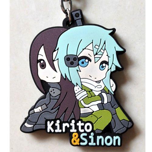 Брелок Sword Art Online Kirito & Sinon