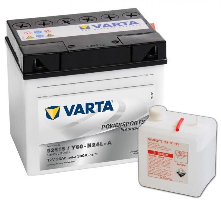 Мото аккумулятор АКБ VARTA (ВАРТА) FP 525 015 022 A514 Y60-N24L-A 25Ач о.п.