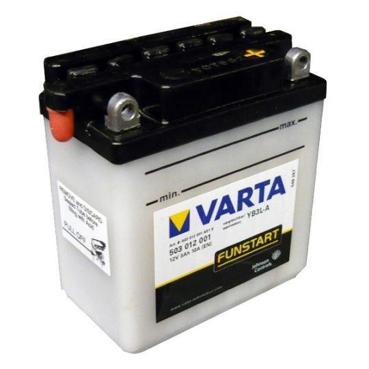 Мото аккумулятор АКБ VARTA (ВАРТА) FP 503 012 001 A514 YB3L-A 3Ач о.п.