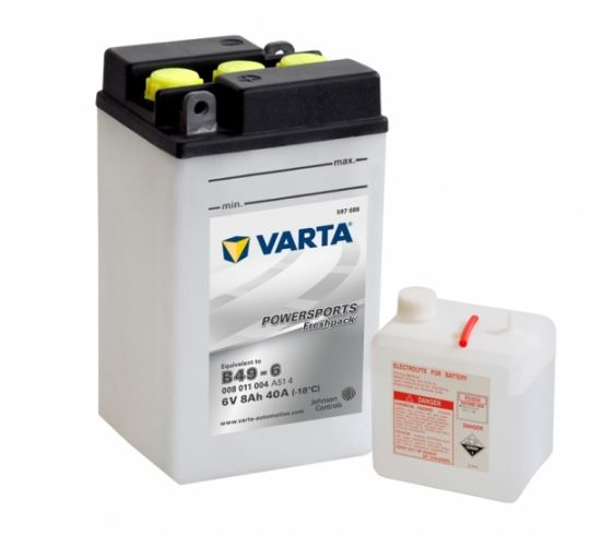Мото аккумулятор АКБ VARTA (ВАРТА) FP 008 011 004 A514 6Вольт 8Ач п.п.