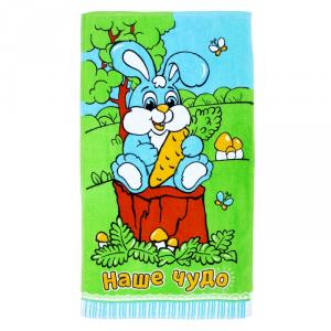 Банное полотенце для ребенка с зайчиком