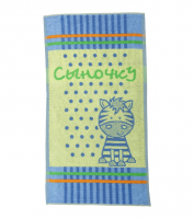Полотенце махровое для мальчика с жирафом