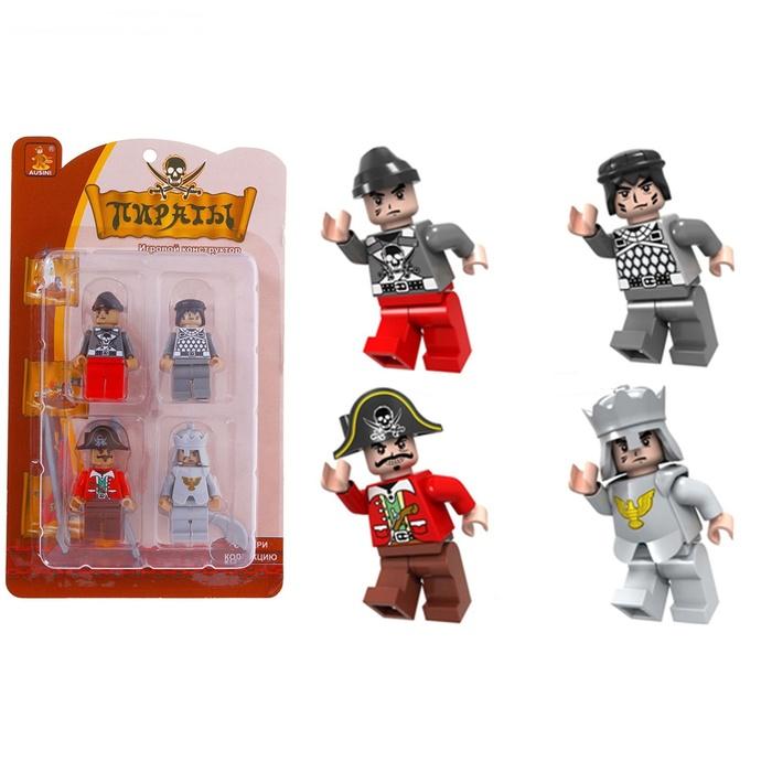 """Игральные фигурки """"Лего. Пираты"""" 4 штуки"""