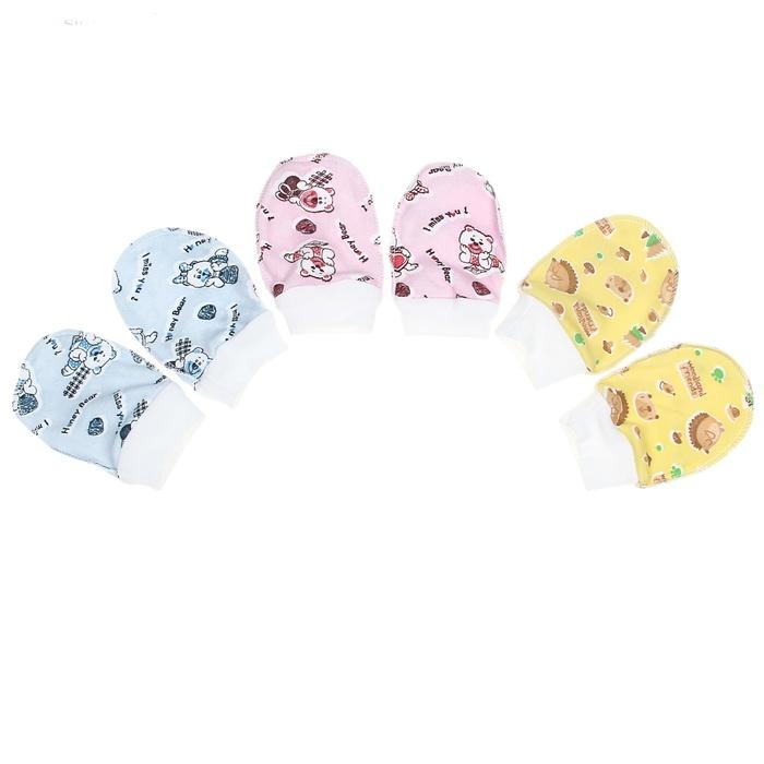 Царапки для новорожденных из хлопка