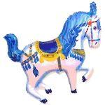 Лошадка (2 цвета) фольгированный шар с гелием