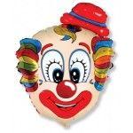 Клоун фольгированный шар с гелием