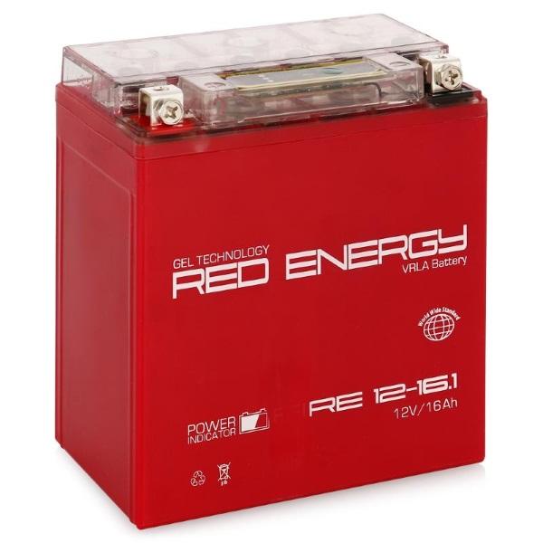 Аккумуляторная батарея АКБ RED ENERGY (РЭД ЭНЕРДЖИ) GEL 1216.1 YTX16-BS, YB16B-A 16Ач п.п.