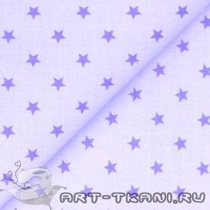 Хлопок Звезды на сиреневом 50х40